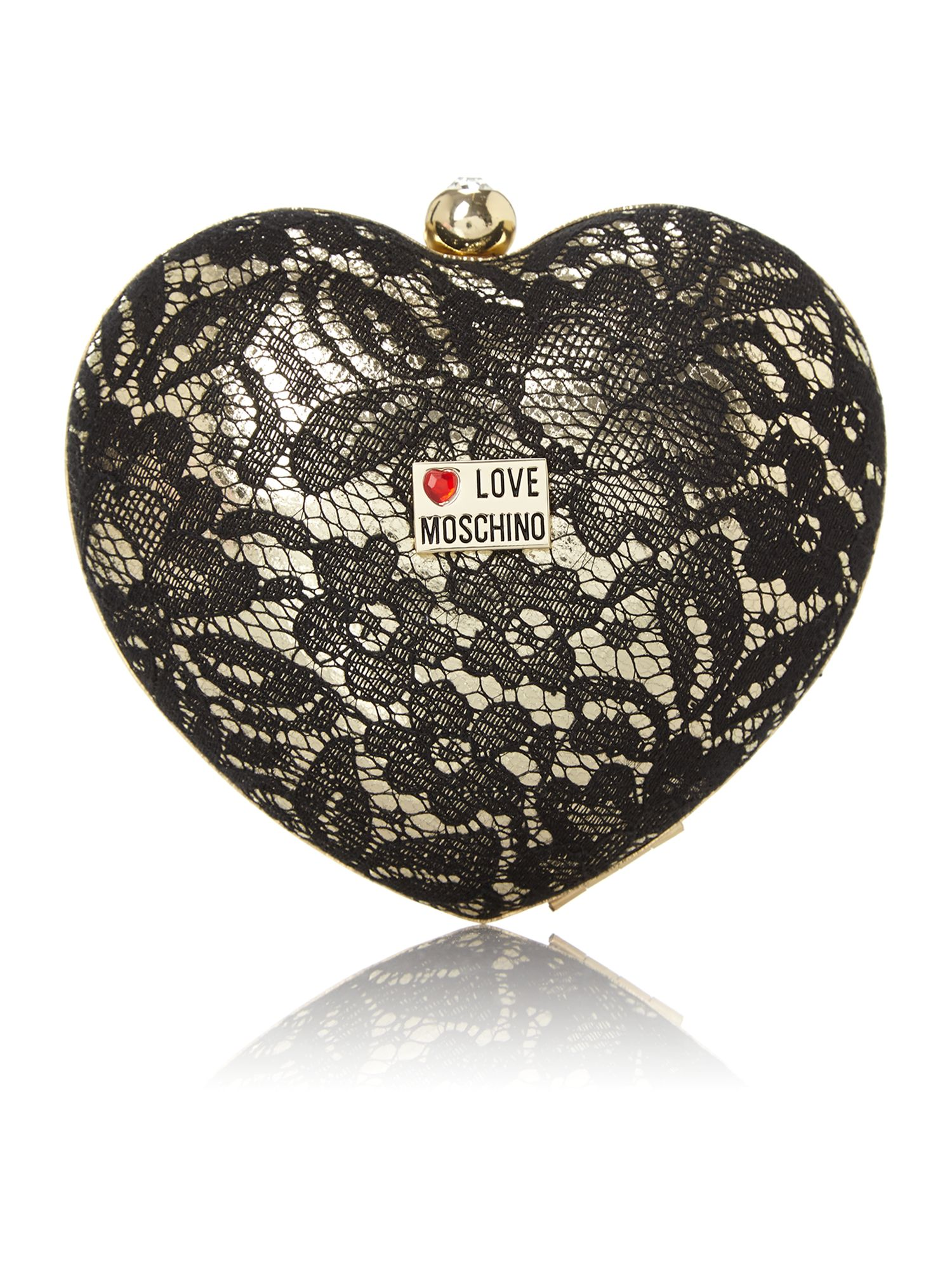 Black heart shape cross body bag