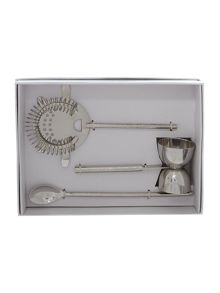 Casa Couture Beaten metal cocktail tool set
