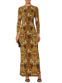 Pheonix printed maxi jersey dress