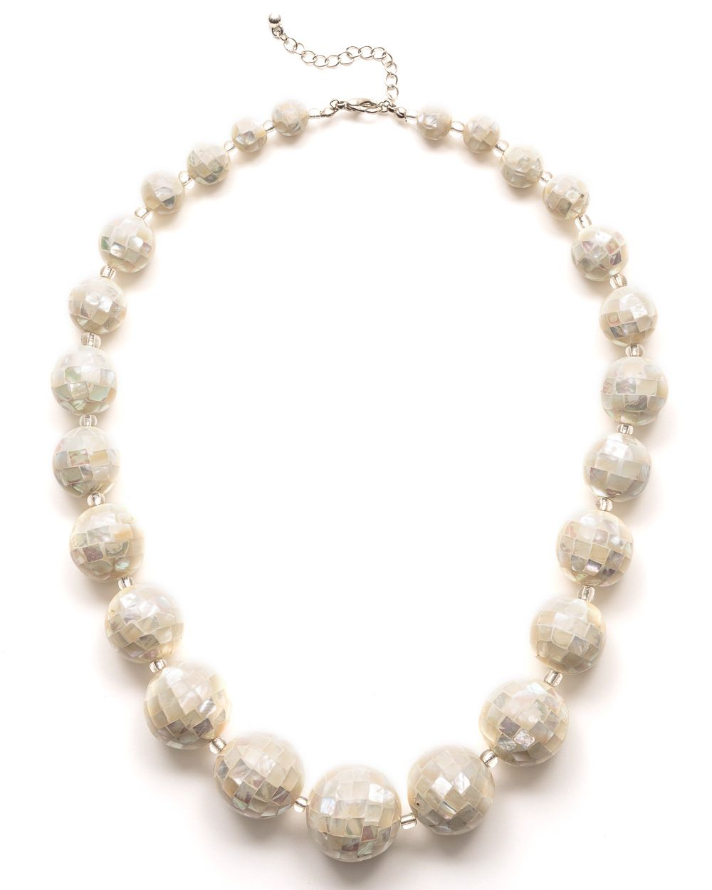 Shell ball necklace