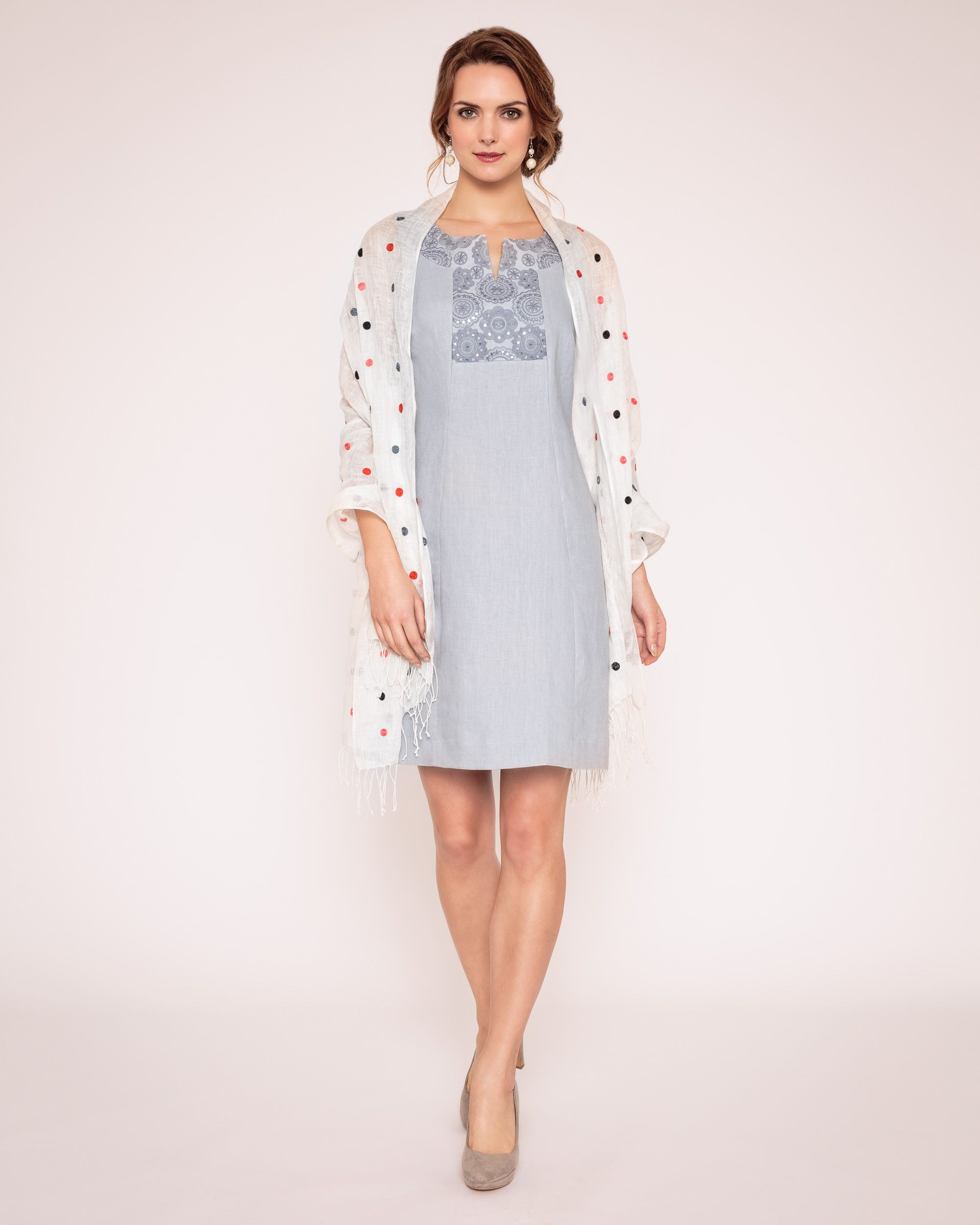 Embroidered victoire dress
