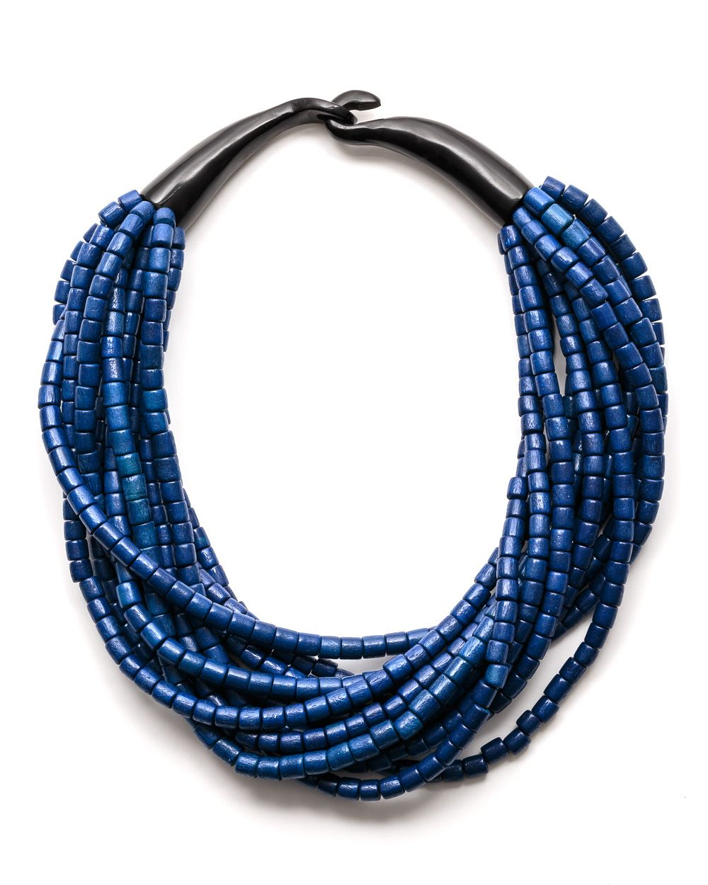 Tess azure horn necklace