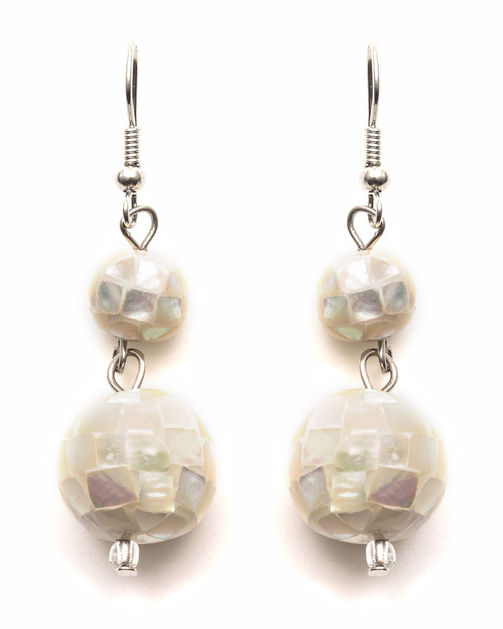Shell ball earring
