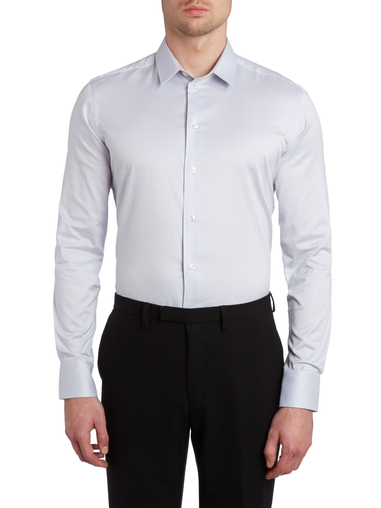 Stretch cotton slim fit shirt