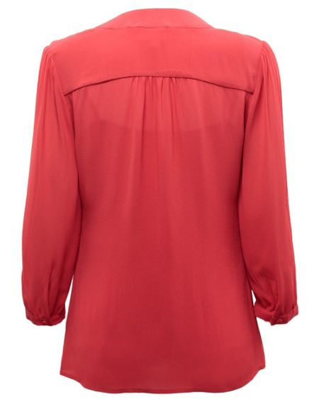 East Tie front blouse