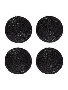 Black halo coaster set of 4