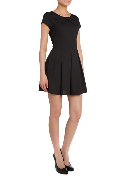 Wal-G Cross over neckline fit and flare dress