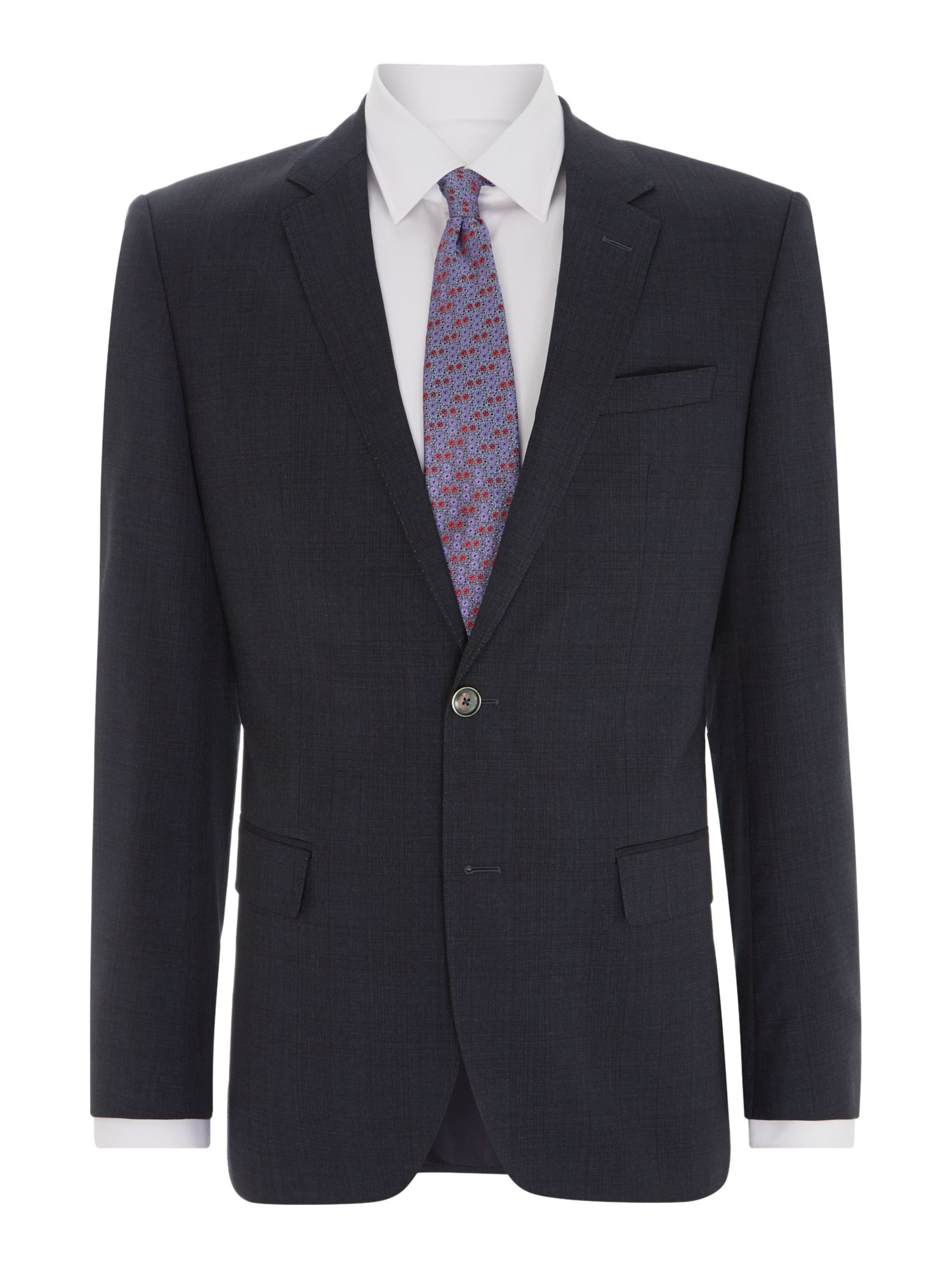 Hutson Gander slim fit burgundy check suit