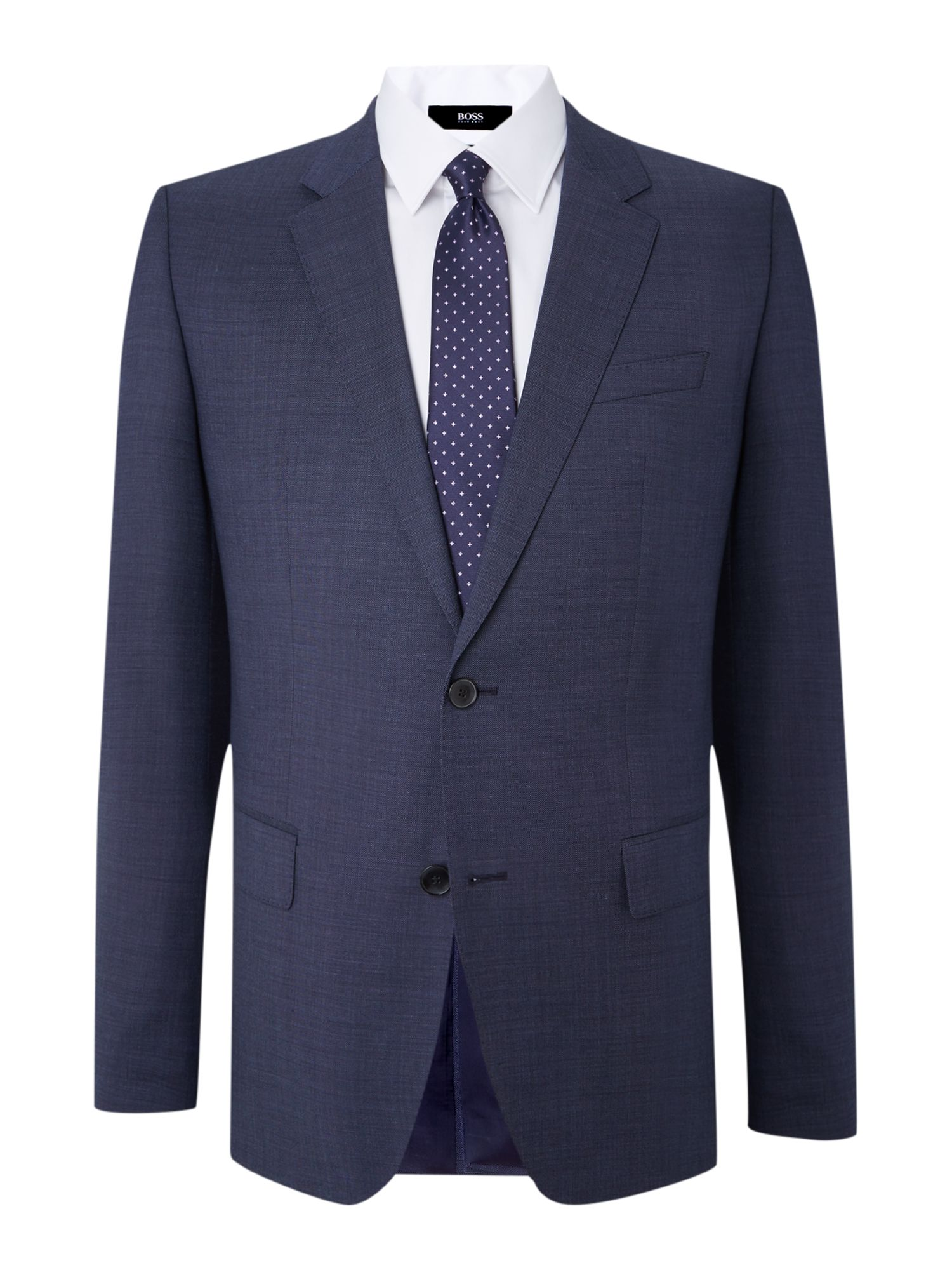 Huge Genius slim fit pindot suit