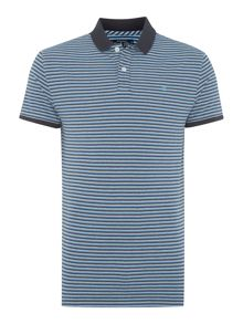 Harlow fine stripe sueded jersey polo