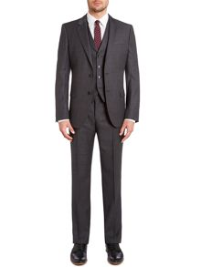 Hattrick Final slim textured three piece suit