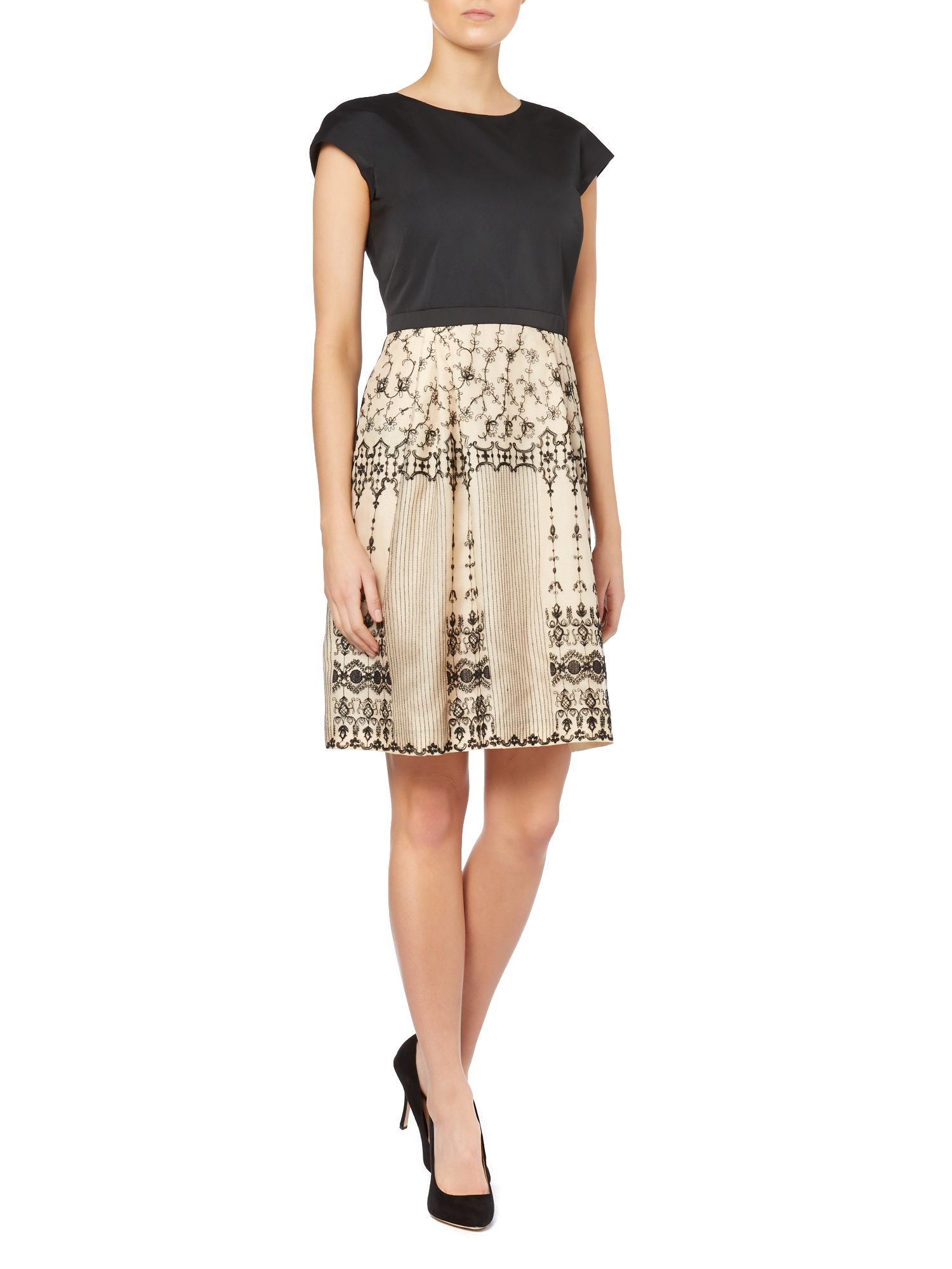 Patner a line dress with lace skirt