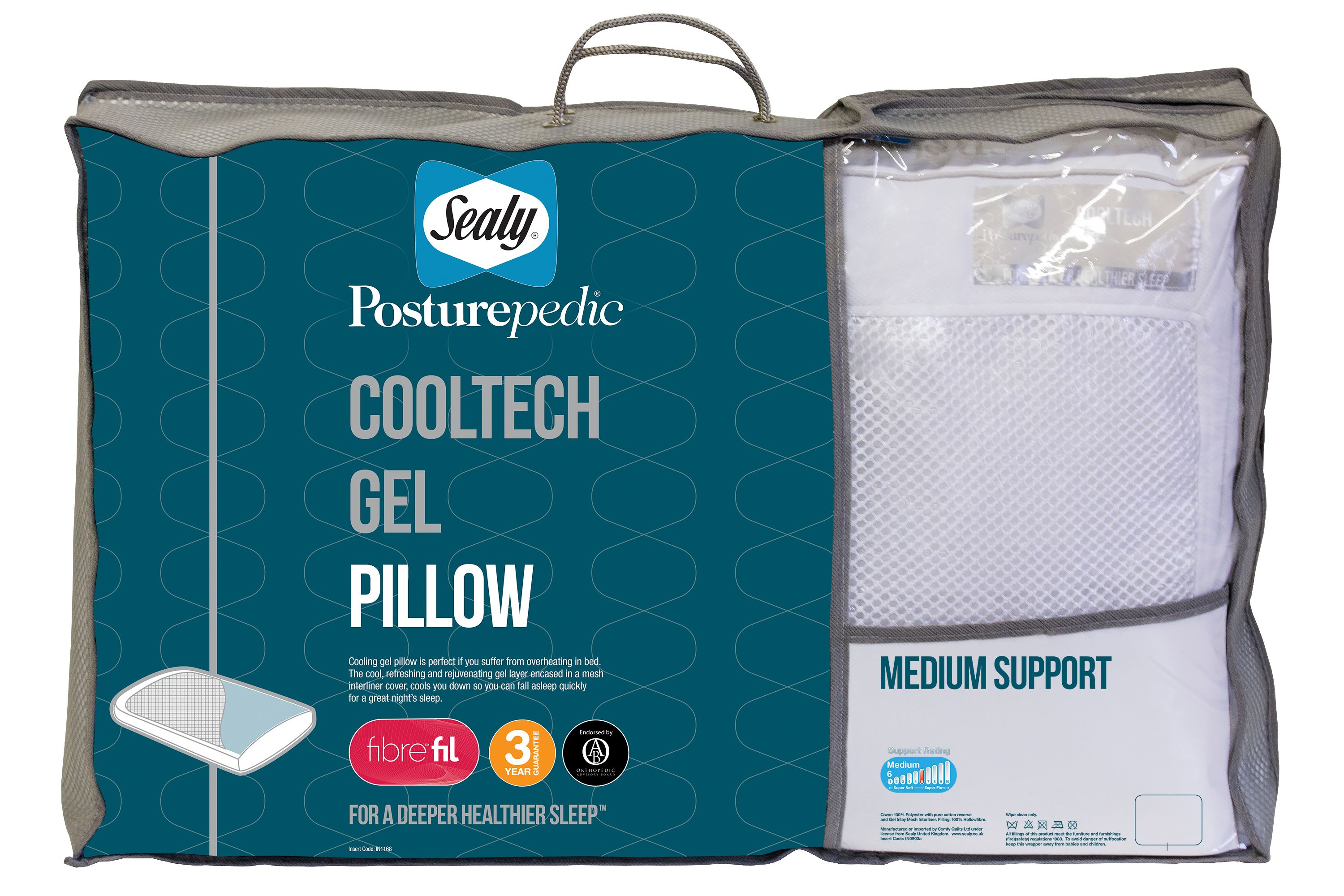 Image of Sealy Posturepedic cooltech gel pillow