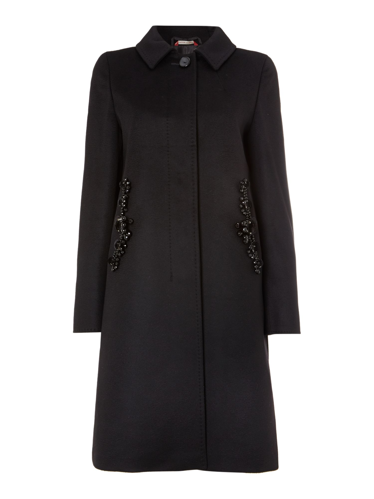 Colmo coat with pocket embellishment