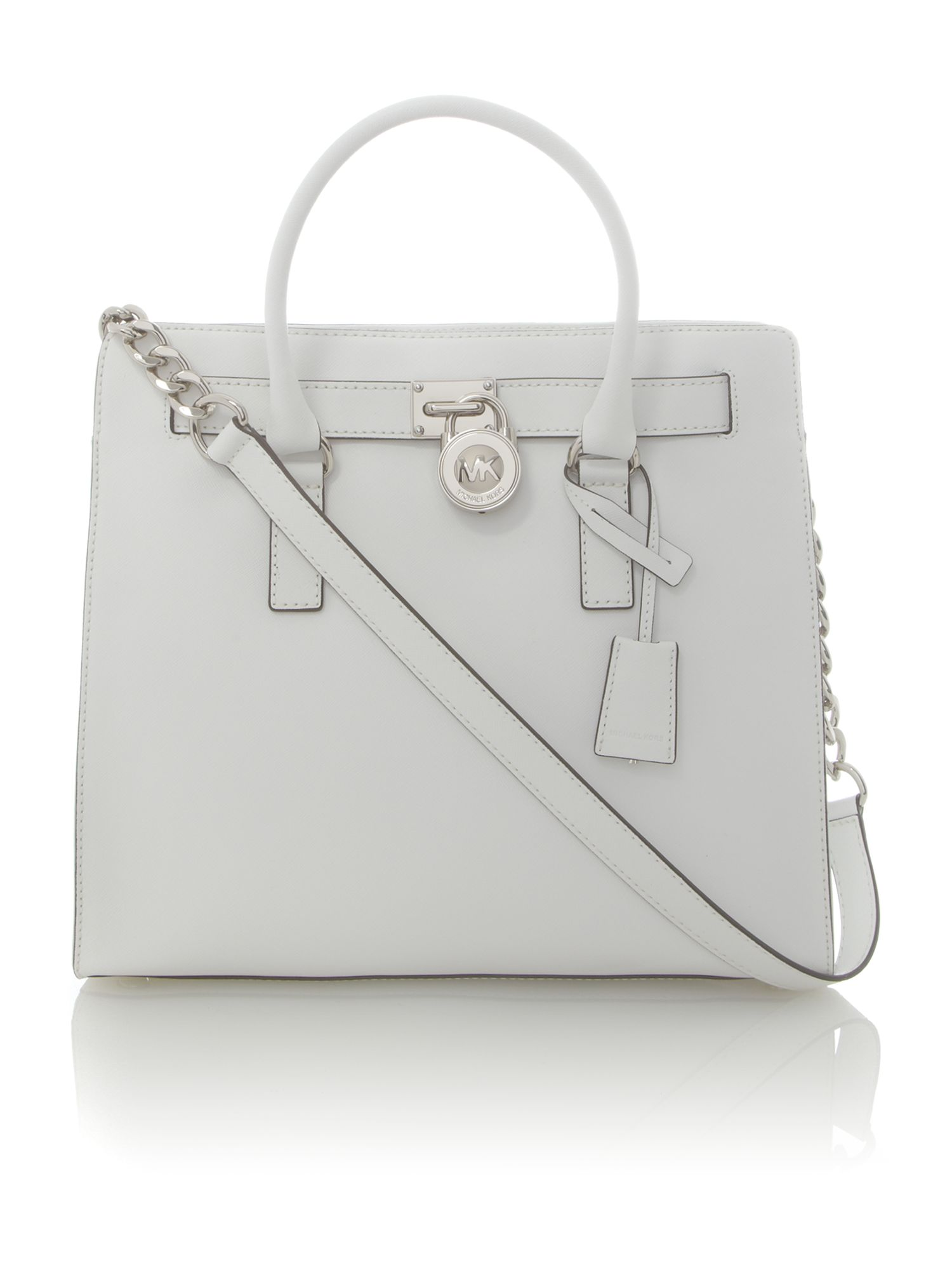 Hamilton large white ns tote bag