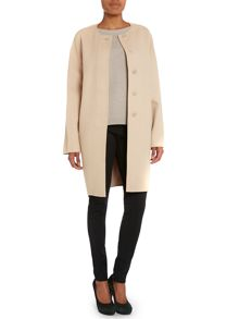 Sabato wool cashmere collarless coat