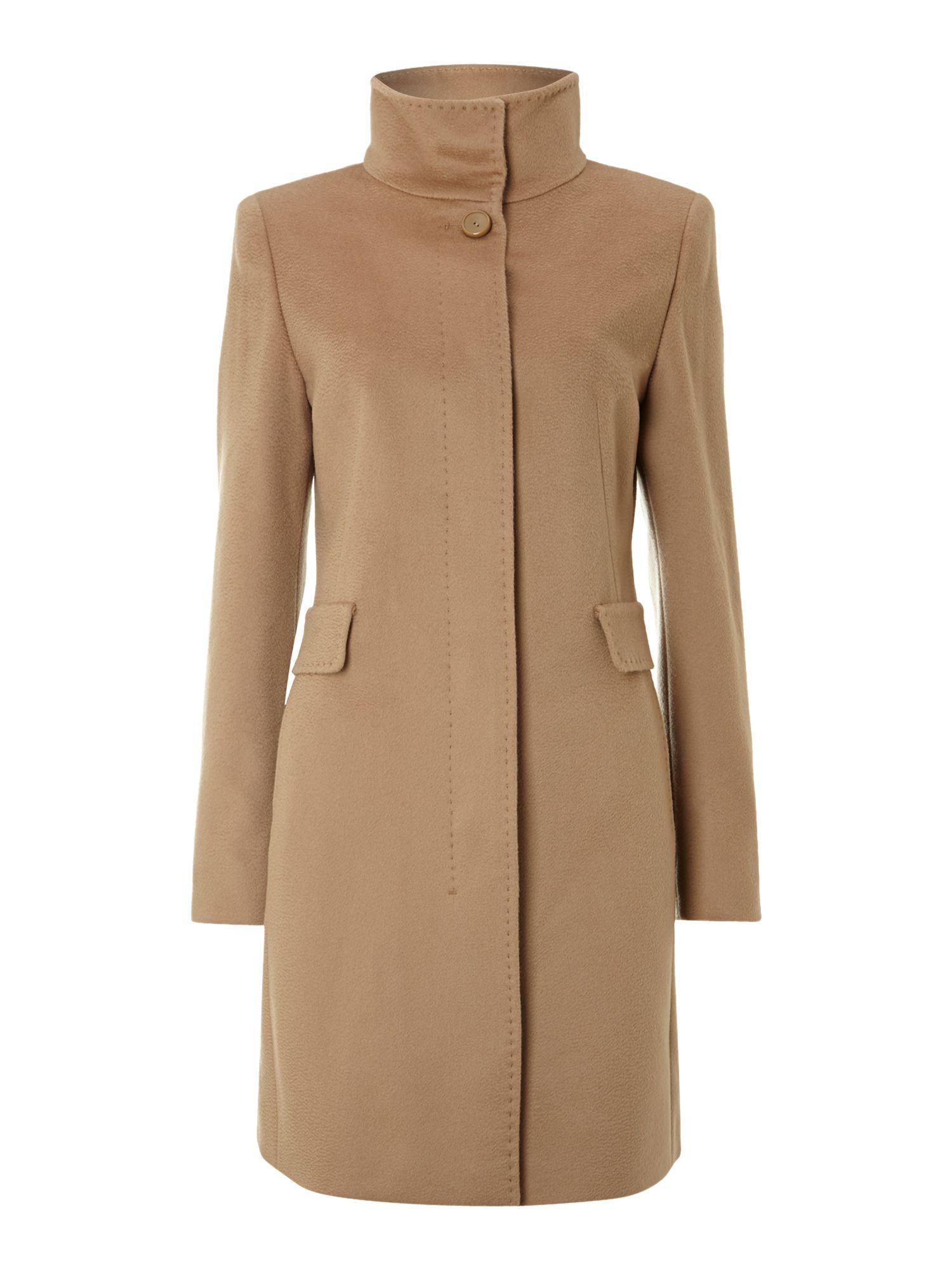 Agnese funnel neck coat