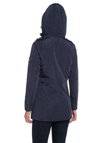 Barbour Exclusive hull funnel neck hooded jacket