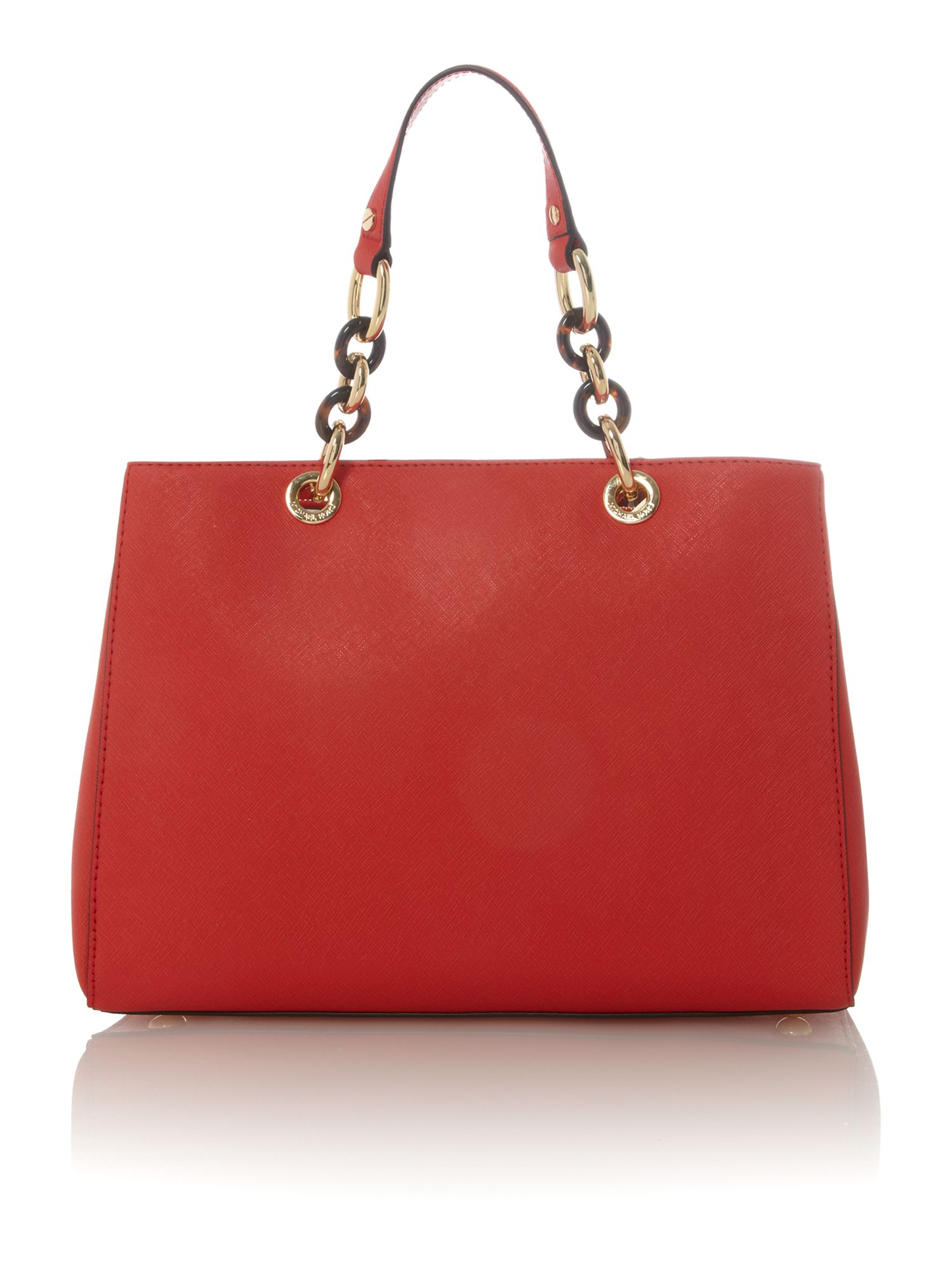 Cynthia red ew tote bag