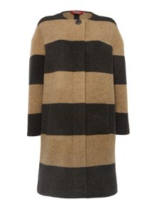 Max Mara Zimino striped coat