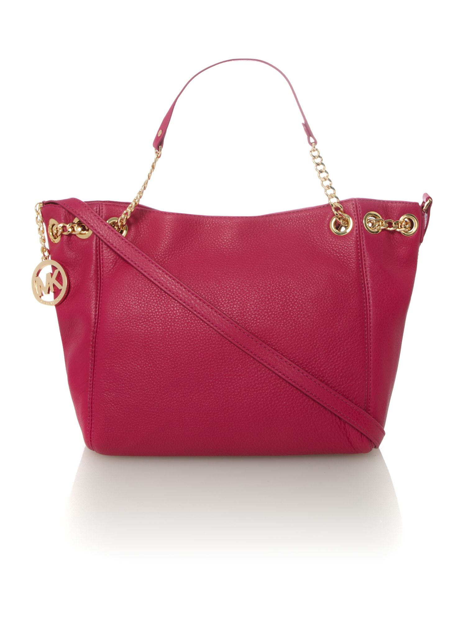 Jet set chain fuschia ew tote bag
