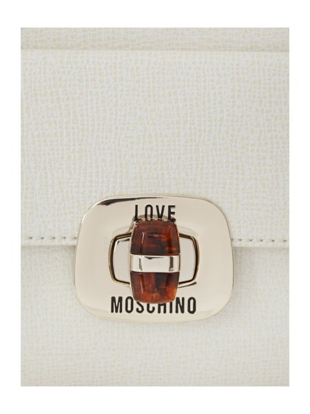 Love Moschino Cream large saffiano tote bag
