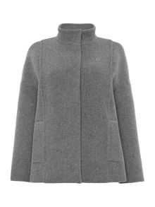 James funnel neck coat