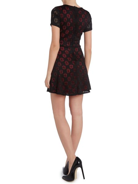 Wal-G Daisy cut out fit and flare dress