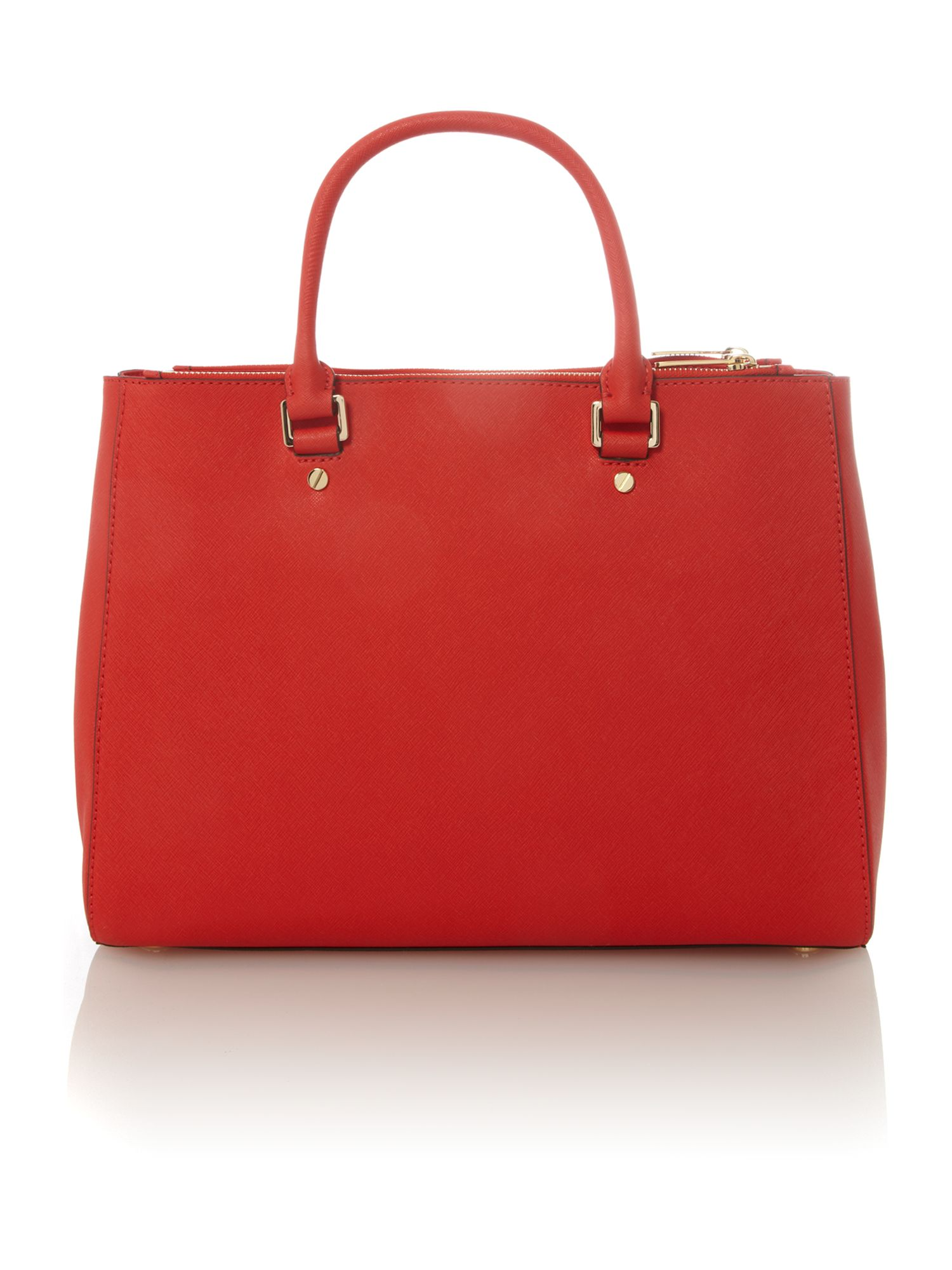 Jet set travel red double zip ew tote bag