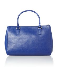 Blue large saffiano tote bag