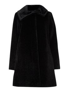 Gregory funnel neck alpaca coat