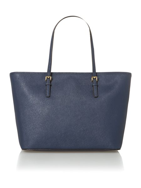 Michael Kors Jet set travel navy medium ew tote bag