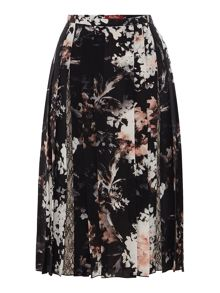 Max Mara Grolla printed pleated skirt with lace