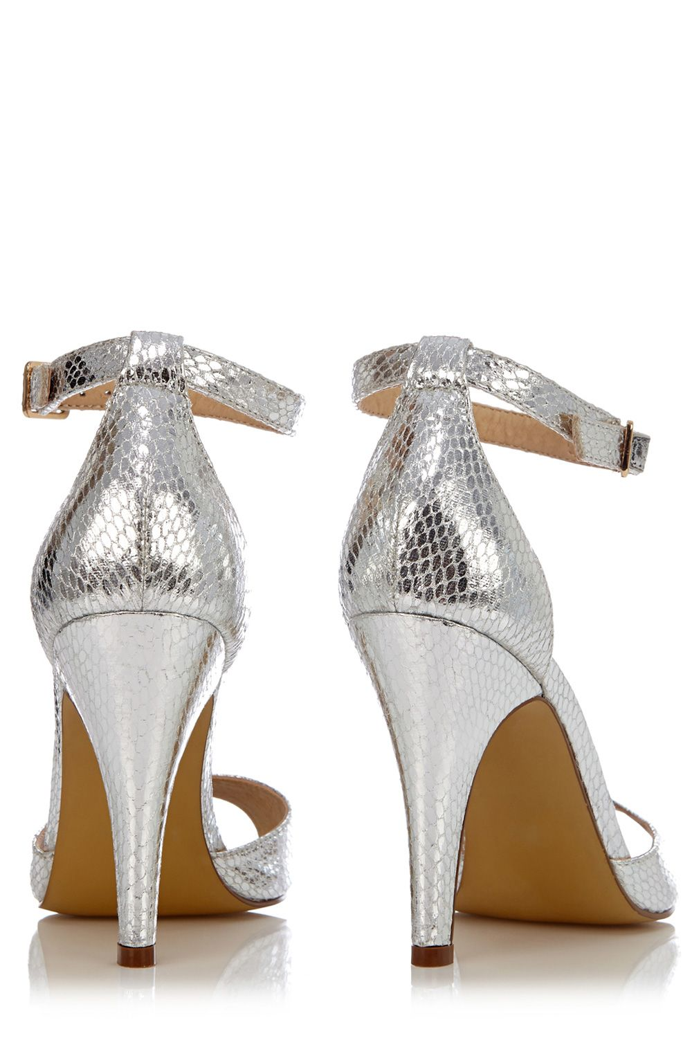 Sophie metallic snake sandals