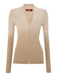 Parania knitted silk mix embellished cardigan