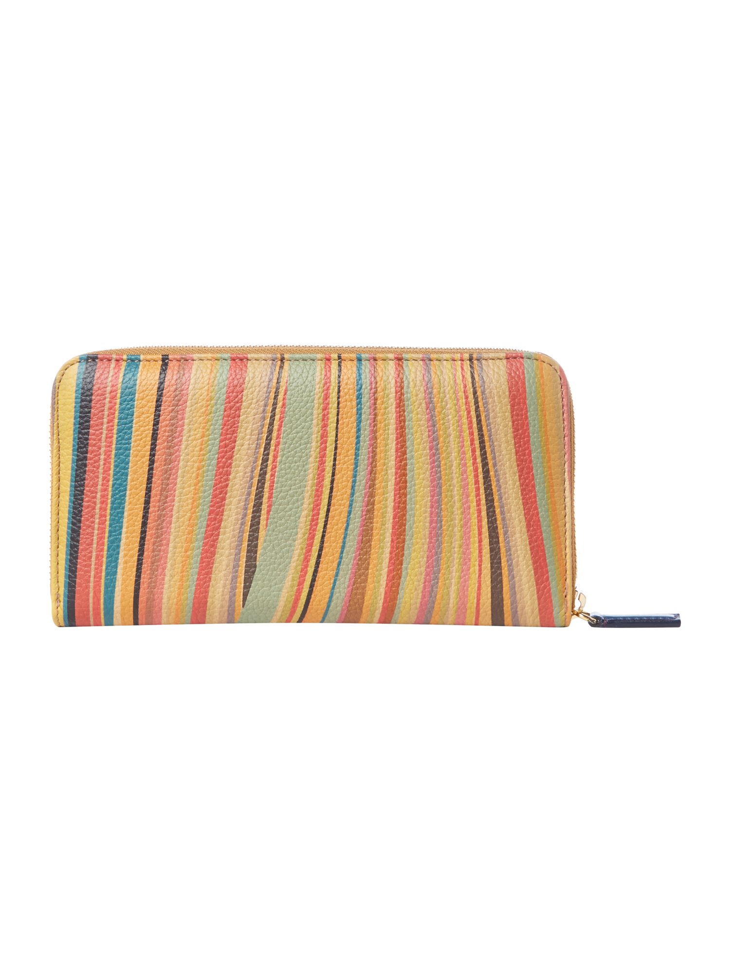 Swirl multi-coloured large zip around purse