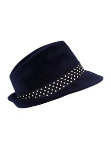 Avena hat with spotted trim