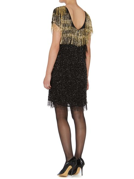 Biba Gold Limited Edition Beaded tassel dress