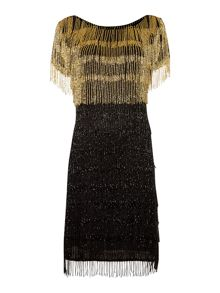 Gold Limited Edition Beaded tassel dress