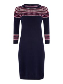 Intarsia knitted dress