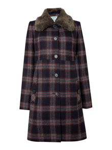 Hampton check coat