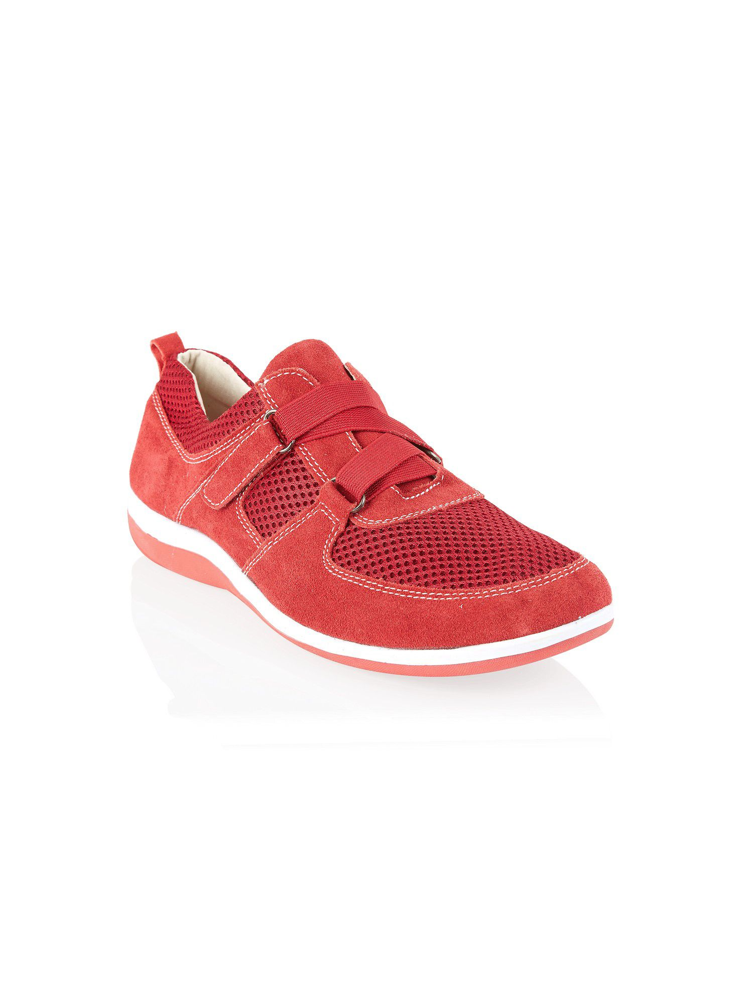 Red velcro mesh sporty shoe