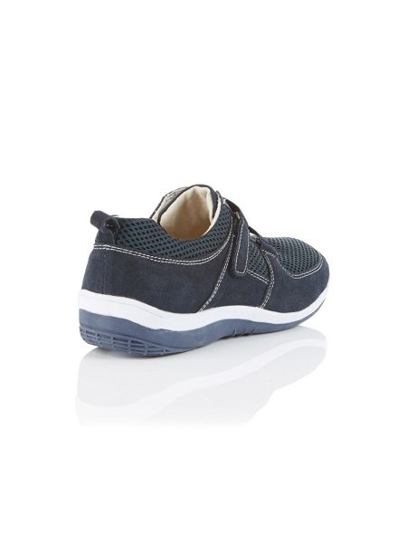 Dash Navy velcro mesh sporty shoe