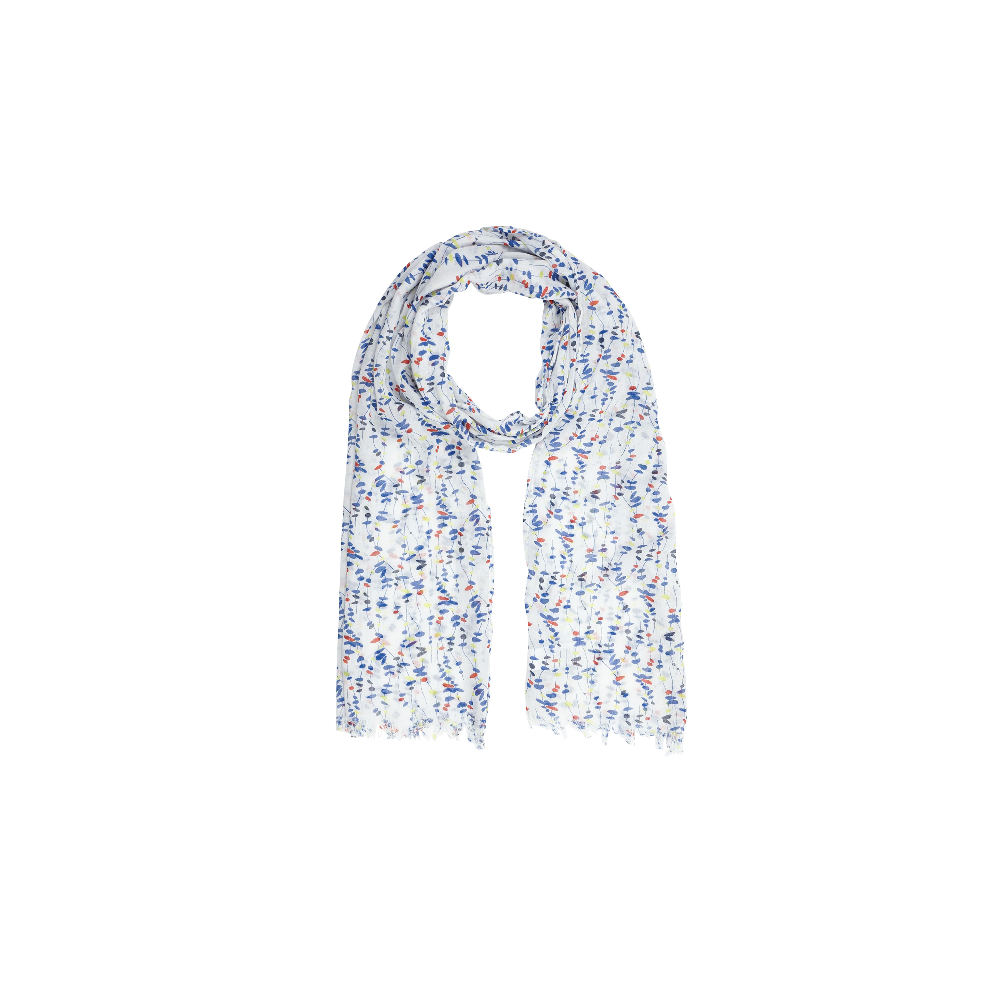 Scattered pebble print scarf
