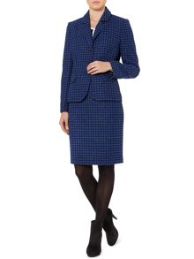 Dogtooth wool pencil skirt