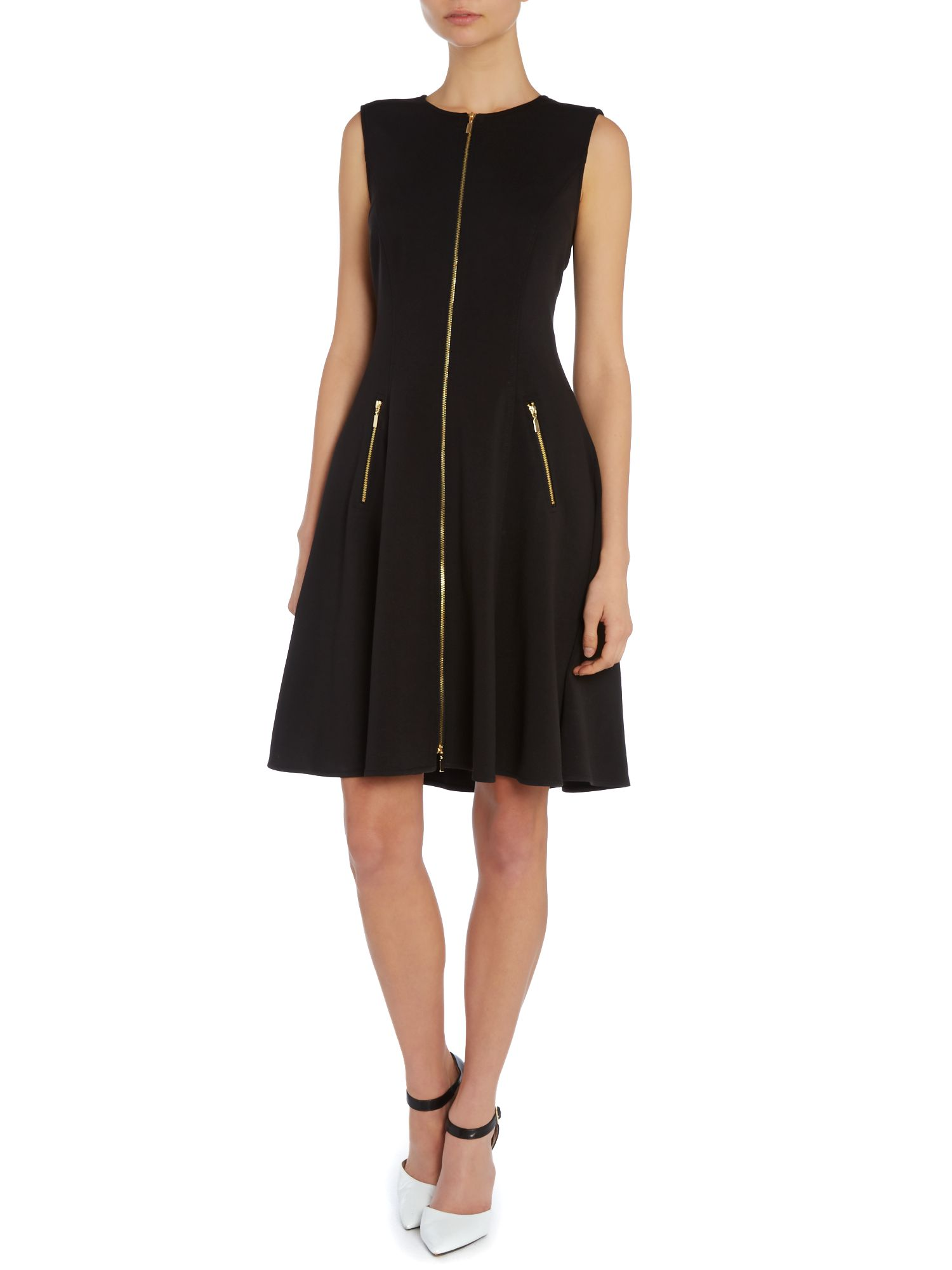 Fit and flare dress with zip detail