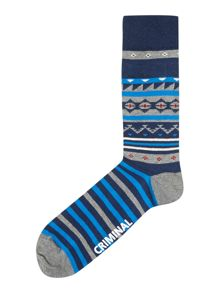 2 pack fairisle socks