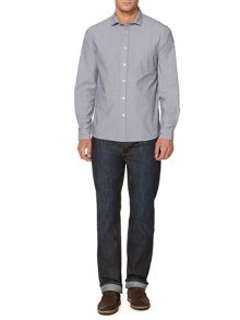 Hutton stripe long sleeve shirt
