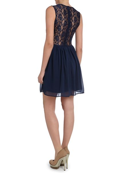 Glamorous Lace v neck fit and flare dress