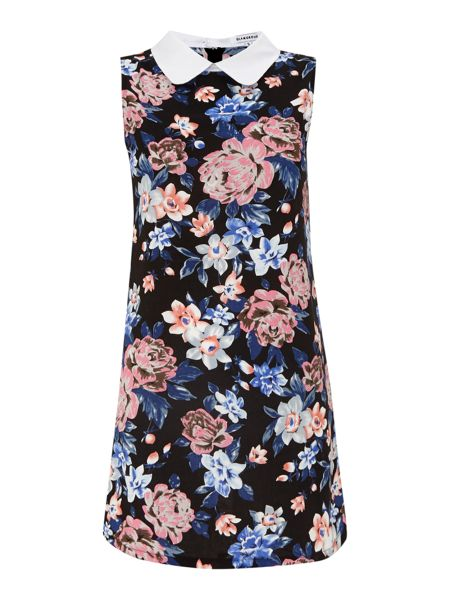 Glamorous Floral printed dress with peter pan collar